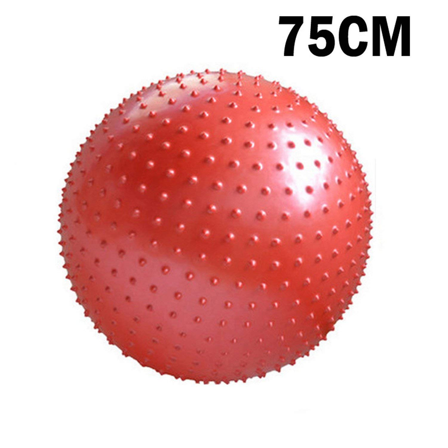 75CM Red One Size Sports Yoga Ball Point Fitness Gym Balance Ball Exercise Workout Barbed Massage Ball 55cm 65cm 75cm 85cm