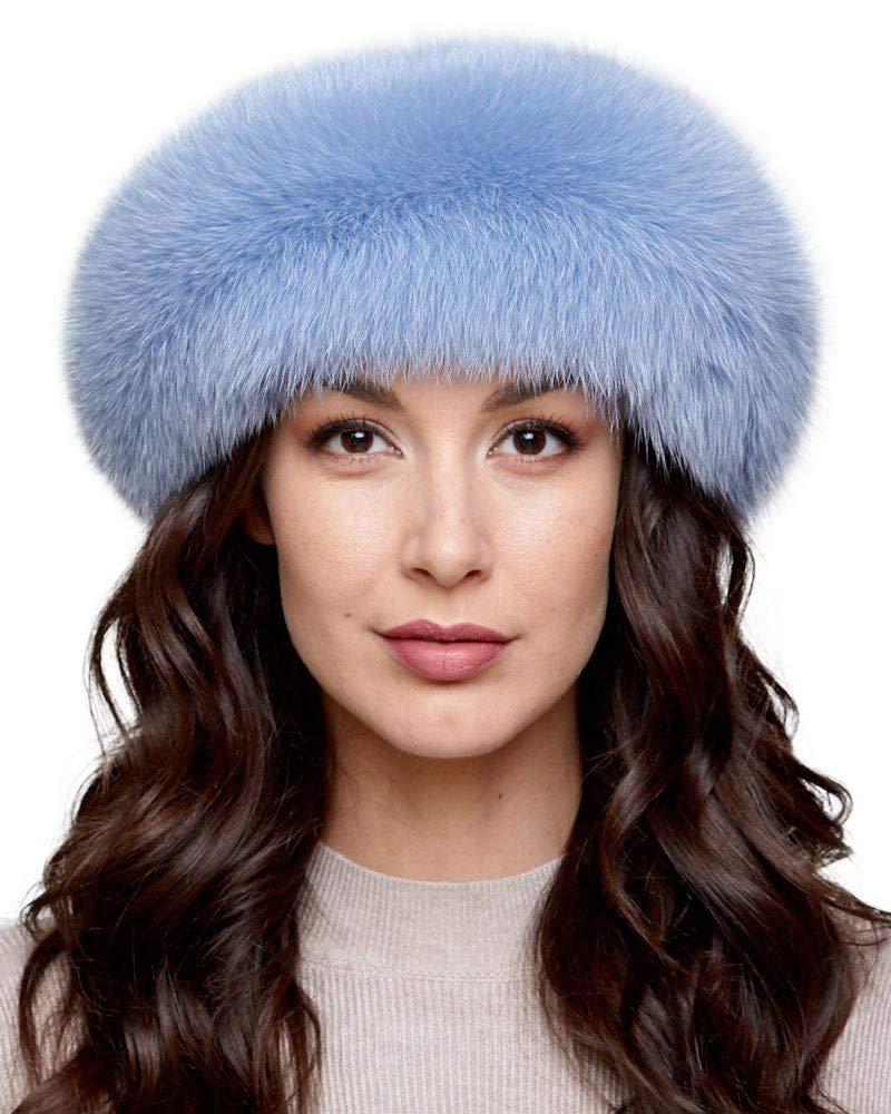 Powder Blue Fox Fur Headband
