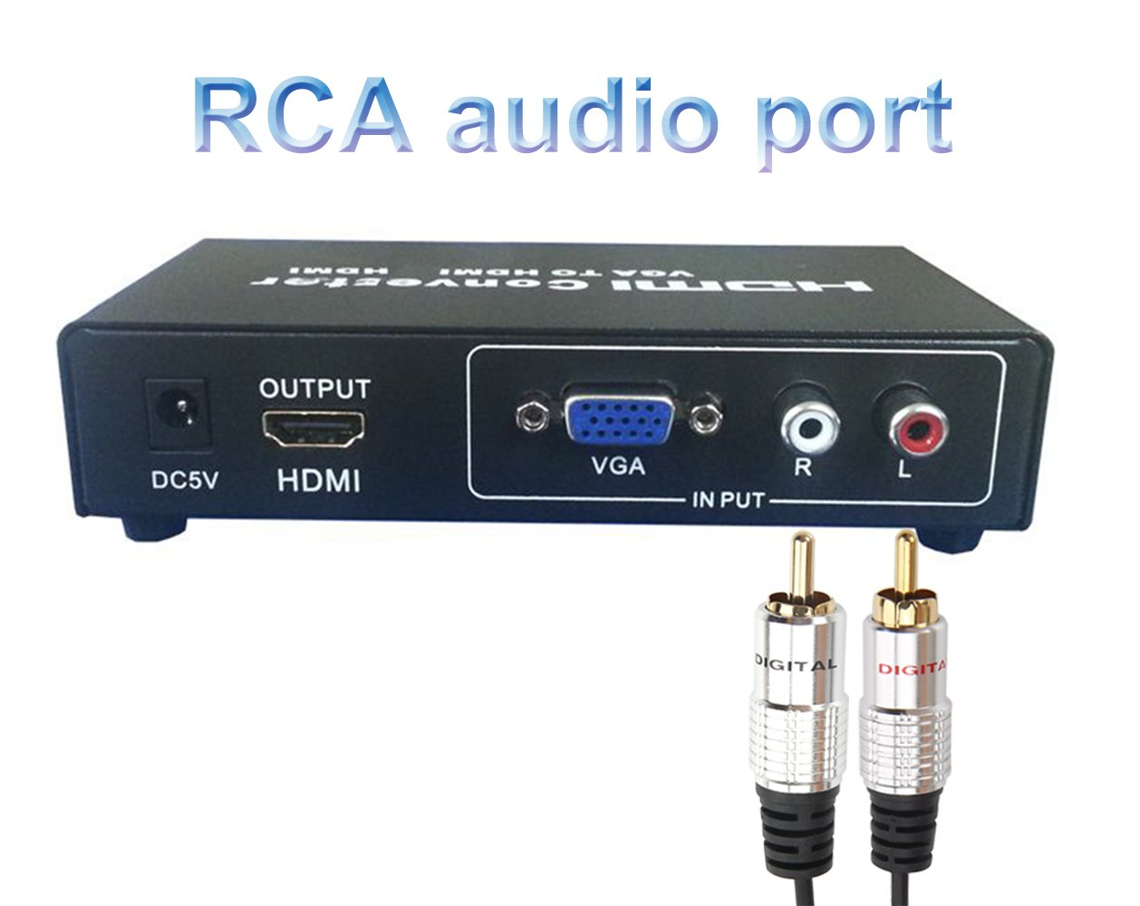 Devinal Cavo audio RCA maschio//maschio da 3,5 mm convertitore spina jack ausiliario per cuffie stereo a sinistra//destra 2/cavi RCA placcato oro e adattatore Y splitter 5 m