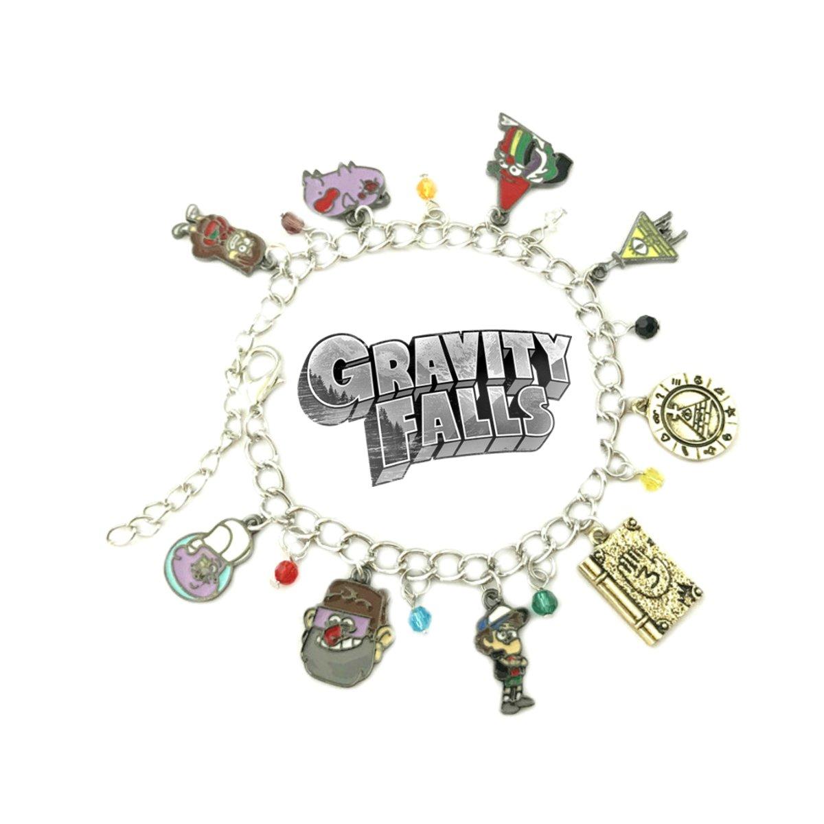 Gravity Falls Cartoon Theme Multi Charms Jewelry Bracelets Charm by Family Brands