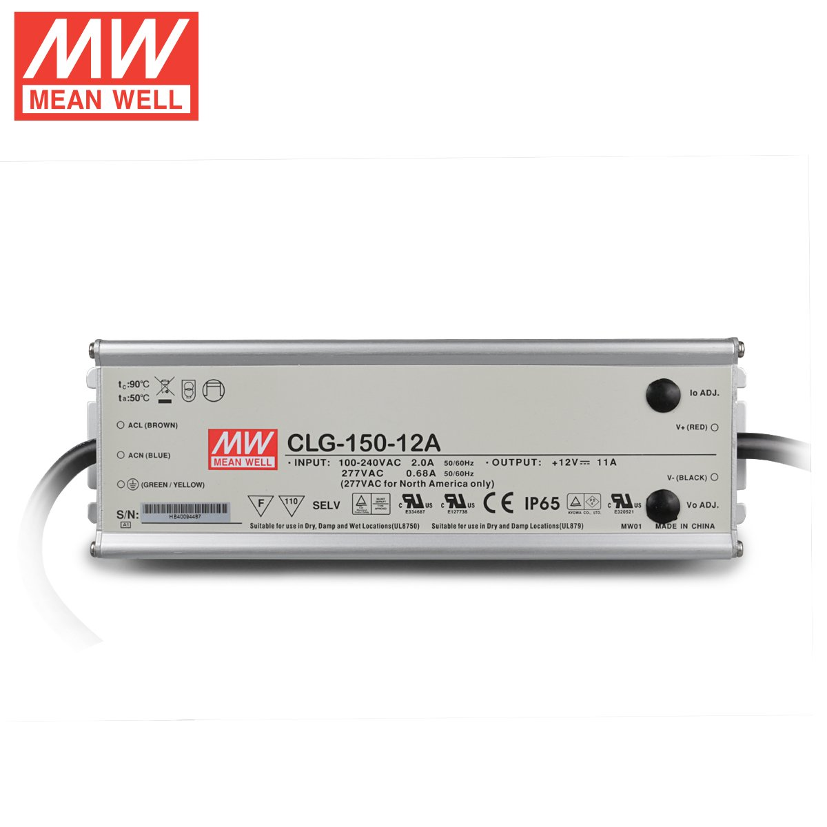 [] official Taiwan meanwell waterproof switch power CLG-150-12A LED 150W 12V 11A