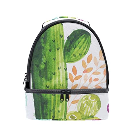 8dcb06945186 Amazon.com: Lunch Bag Watercolor Cactus Hand Painted Womens ...