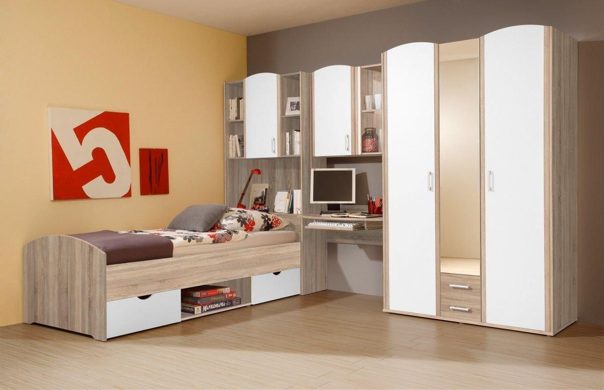 Habitación de los Niños habitación juvenil con armario escritorio cama