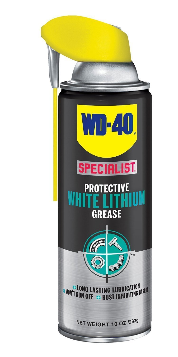 WD-40 Specialist Protective White Lithium Grease Spray with SMART STRAW SPRAYS 2 WAYS, 10 OZ [6-Pack]