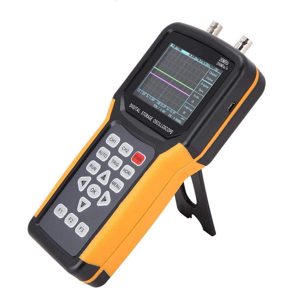 240 Osciloscopio de resoluci/ón Enchufe JDS2022A 100-240V JDS2012A//JHJDS2022A 200MSa//s Osciloscopio LCD Almacenamiento digital TFT Port/átil 20MHz 320