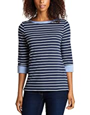 NAUTICA WOMENS CHAMBRAY CASUAL CUFF TOP 3/4 SLEEVE TOP!