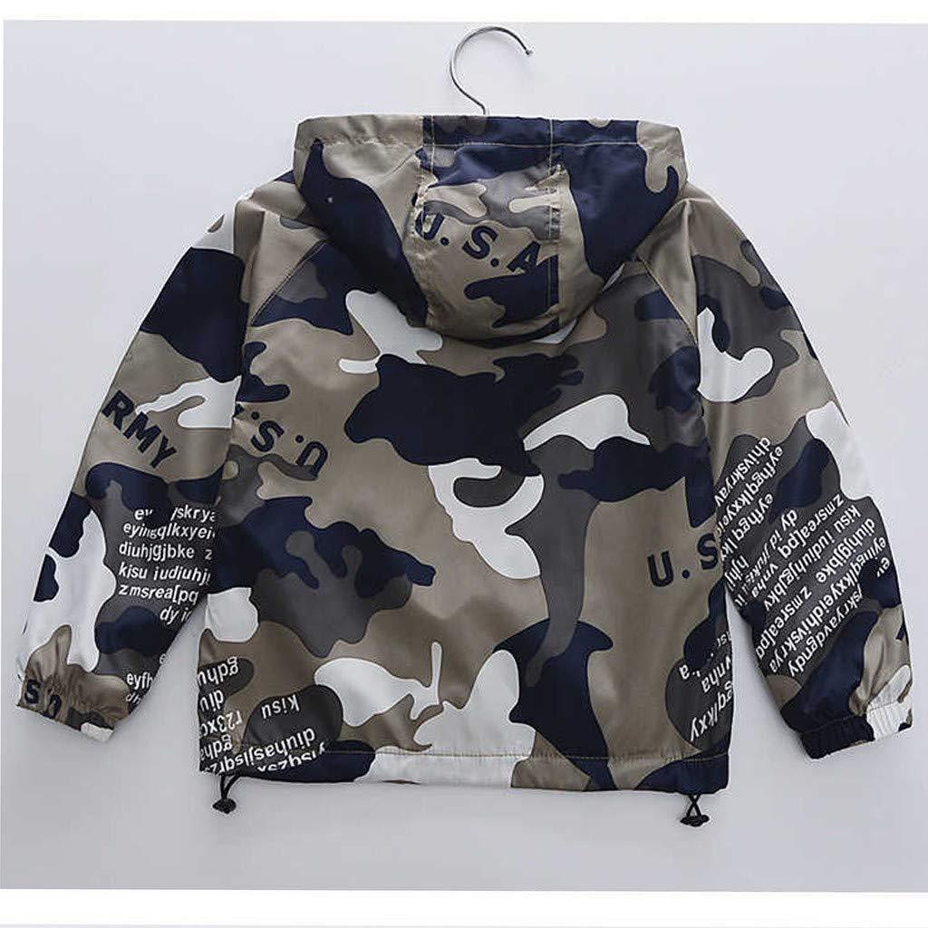 Topgrowth Giacca Bimbo Neonata Cappotto Giacca Mimetica Autunnale Inverno Cappotti con Zip Bambino Felpa con Cappuccio A Prova di Vento Jacket Outwear