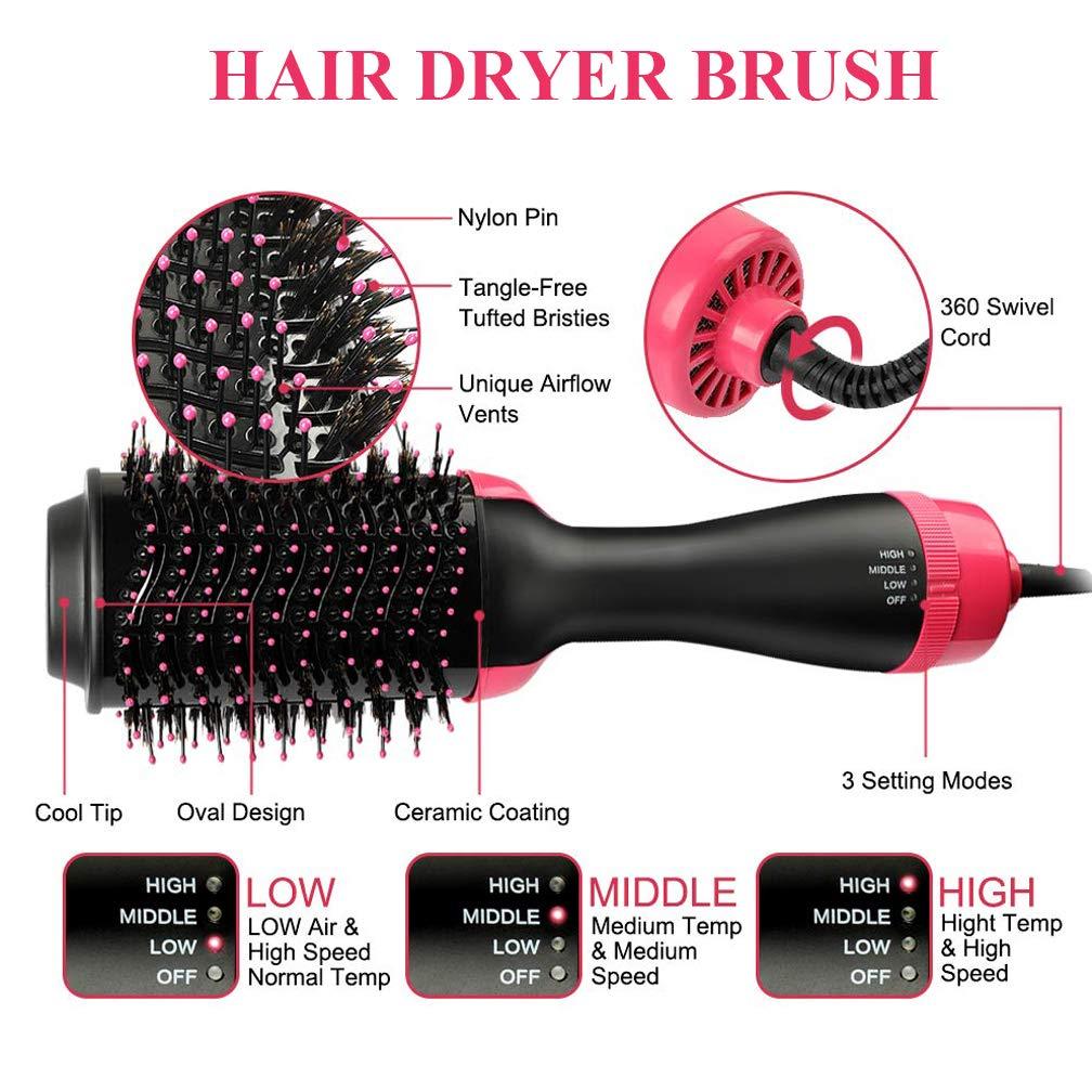 Amazon.com: Cepillo secador de pelo voluminizador de un paso ...