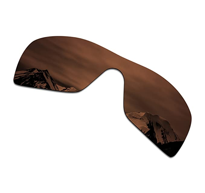 1f94ce0e15 ... SmartVLT Mens Amber Brown Replacement Lenses for Oakley Batwolf  Sunglass ...
