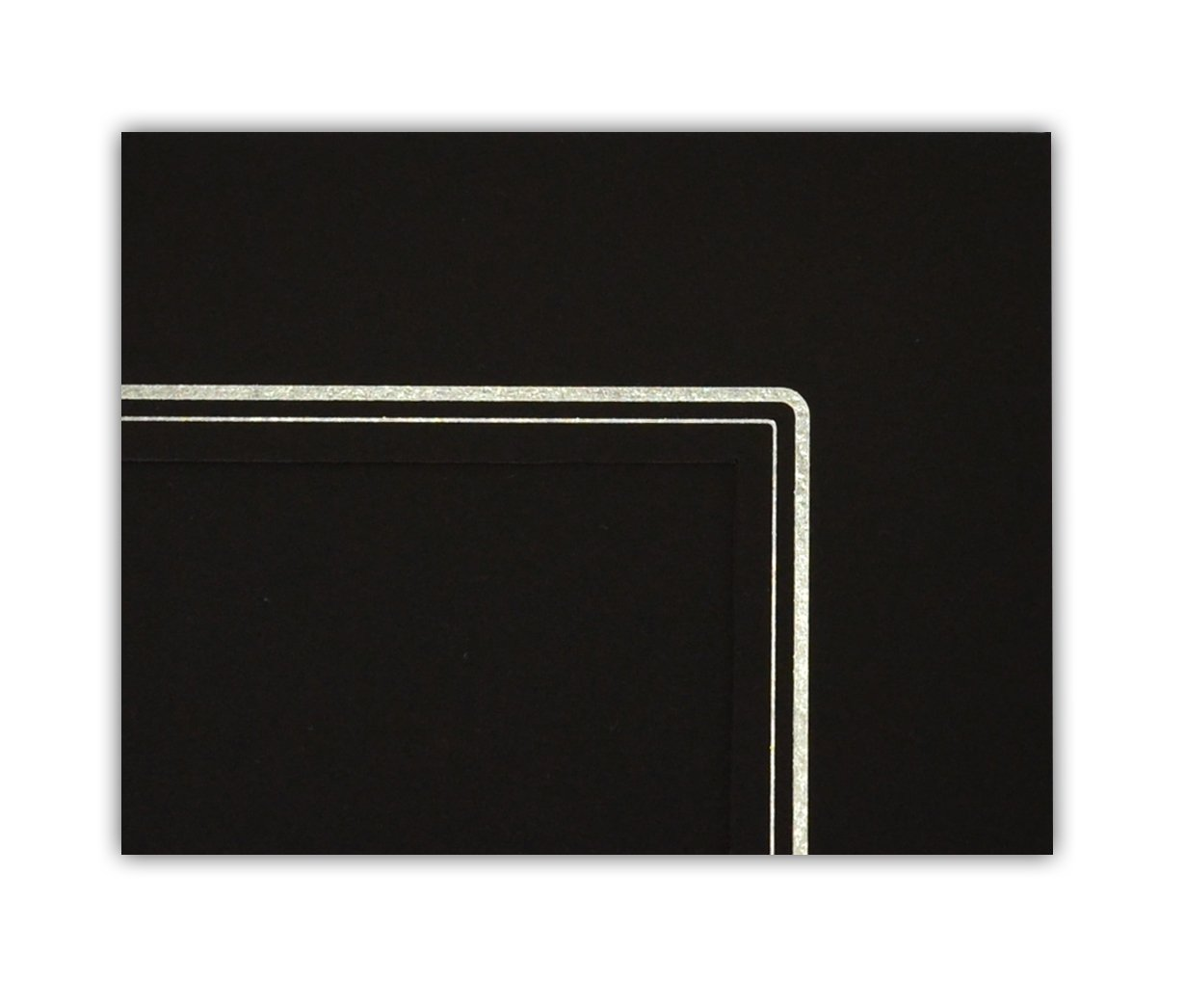 Golden State Art GS001-S Black Color Pack of 100 Cardboard Photo Folder for a 4x6 Photo
