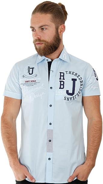 Redbridge - Camisa para Hombre, Color Azul, Talla L: Amazon ...