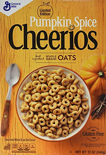 General Mills Limited Edition Pumpkin Spice Cheerios - 12 Oz (Pack of 3)