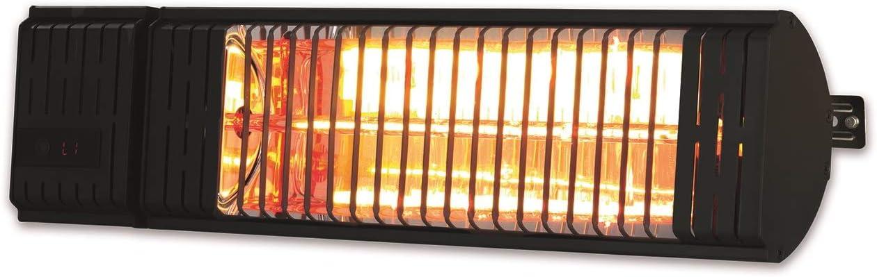 Maxxmee - Radiador de calor por infrarrojos | calor específico sin pérdida de calor | Calefactor con 2 niveles de potencia | para interior y exterior [negro]