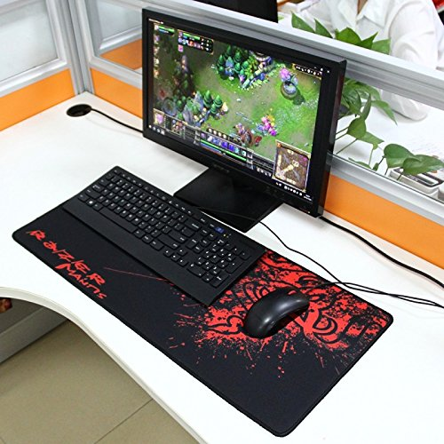 Tappetino Gaming Mouse Pad Per Mouse E Tastiera Mantis Rosso 70 X 30 Cm Panagora