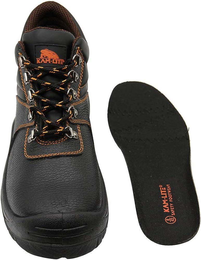 Zapatos de Seguridad para Hombres Botas de Trabajo con Punta de Acero Zapatos de Trabajo Impermeables Antideslizantes Botas de Seguridad para construcci/ón al Aire Libre