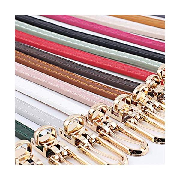 Firally Hot sale Cintura,Moda Donna Vintage Accessorie Smerigliato Casual Fibbia Cintura Sottile in Pelle per il Tempo… 3 spesavip