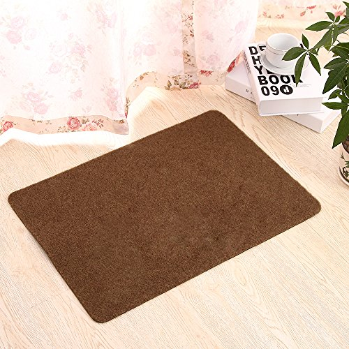 Door Mat for Indoor Outdoor Super Absorbs Mud Doormat for Small Front Door Outside Floor Dirt Trapper Mats Polyester Fiber Entrance Rug 18
