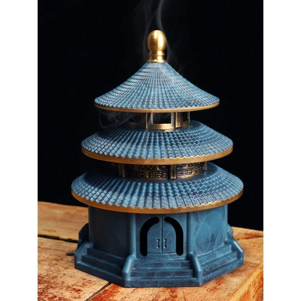JYEMDV Vintage Incense Burner Pure Copper Antique Tower Household Censer Split Creative Aromatherapy Furnace by JYEMDV (Image #4)