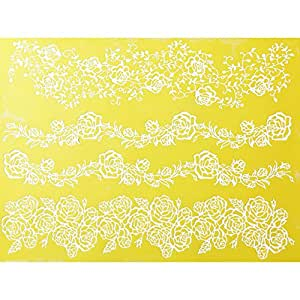 Rose Line Garland Silicone Lace Mat by Chef Alan Tetreault