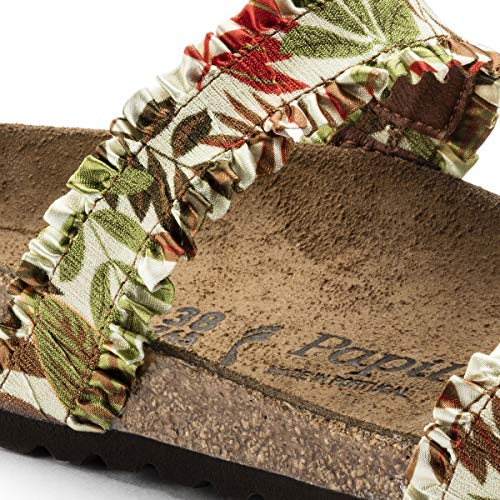 Brown Papillio Scarpe 1007299 Iii Sandali Ciabatte Stretch Frill Flower Curacao a8rqEa