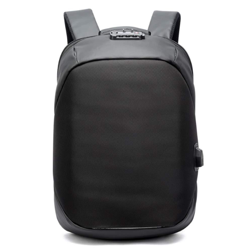 バックパック-ノートブック/PC ビジネススクール旅行の USB 充電ポートとパスワードロックアンチ盗難リュックサック男性と女性,Black,32*15*46cm B07RX94ZG6 Black 32*15*46cm