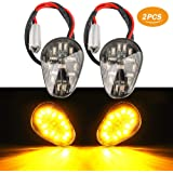 2 PCS Amber LED Turn Signal Indicator Light Lamp Flush Mount For Yamaha YZF R1 R3 R6 R6S FZ6 FZ1 FZ Fazer FZ6R FZ07 FZ8…