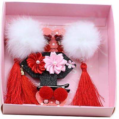 Cute Girls Hair Accessories Hair Clips Hair Bands Conjunto de joyas Little Girl Presente de cumpleaños #20