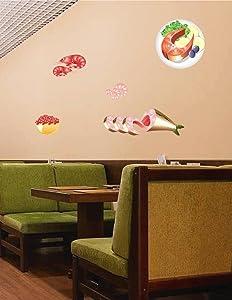 STICKERSFORLIFE cik887 Full Color Wall Decal Japanese Food Seafood Fish roe Shrimp Japanese Restaurant