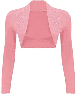 Womens Lace Bolero Cardigan Top Ladies Novelty Casual Open Cropped Shrug Top