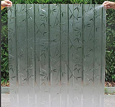 Md Hroup Glass Sticker Pvc Frosted Dull Polish Bamboo Shower Screen