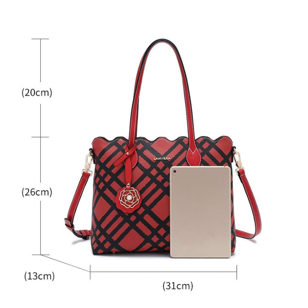 Tasche weibliche Mode lässig praktische praktische praktische große Kapazität Paket Trend Kontrast Farbe Umhängetasche PVC Schultergurt 110cm adjustable26  13  31cm B07JKC87ZC Schultertaschen Geschäft 1a6286