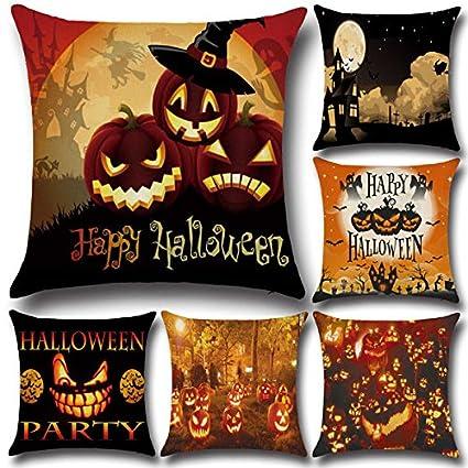big bazaar bazaar 45x45cm 6 pattern halloween pumpkin fashion cotton linen pillow case home sofa cushion