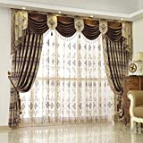 """Cheap Queen's House Luxury Baroque Pattern Window Curtains Drapes 52""""×84""""-I"""