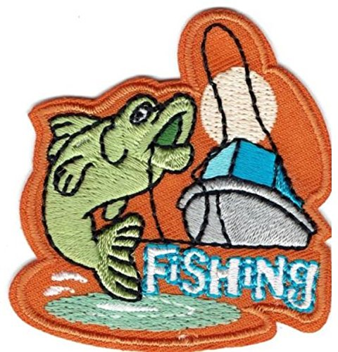 Cub Girl Boy FISHING Embroidered Iron-On Fun Patch Crests Badge Scout Guides