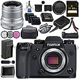 Fujifilm X-H1 Mirrorless Digital Camera (Body Only) 16568731 XF 50mm f/2 R WR Lens (Silver) 16536623 VPB-XH1 Vertical Power Booster Grip Bundle