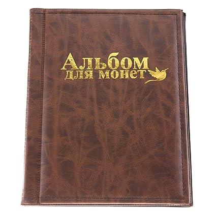 902d1e638f Garosa Raccoglitore per Monete Album Portamonete per raccoglitori di  Piccole Dimensioni, 250 Tasche, 10 Pagine di Raccolta per conservare  medaglioni, ...