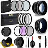 Photo : Professional 58MM Lens & Filter Bundle For Canon– Complete DSLR/SLR Compact Camera Accessory Kit – Lenses (Telephoto, Wide Angle), Filters (Macro, ND, UV, CPL, FLD), Cleaning Tools + MORE Accessories