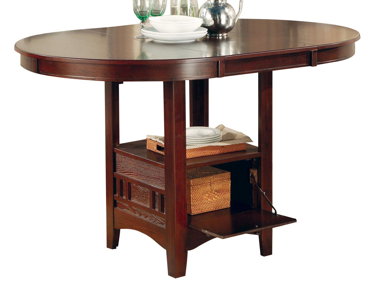 Coaster Home Furnishings Casual Counter Height Table, Dark Cherry
