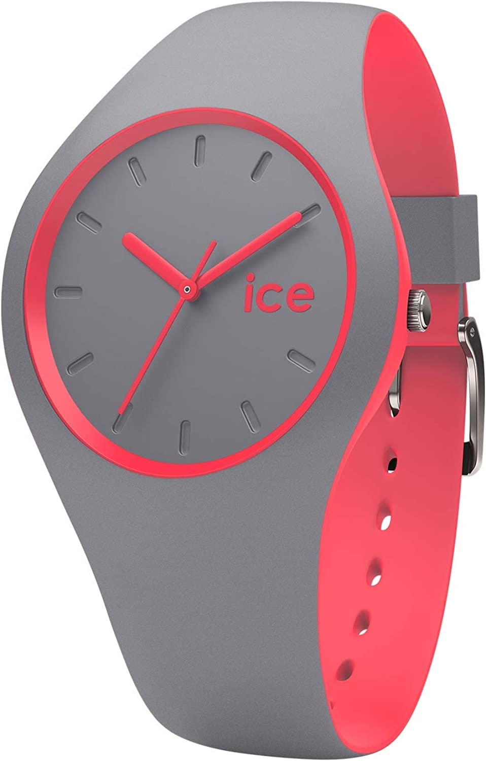 Ice Watch ICE duo Dusty coral Montre grise pour femme avec bracelet en silicone 001488 (Small)