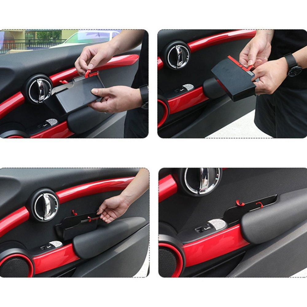 Houkiper 2 Auto Innen Seite Vorne T/ür Griff Armlehnen Aufbewahrungsbox Tablett Halterung f/ür Mini Cooper F56
