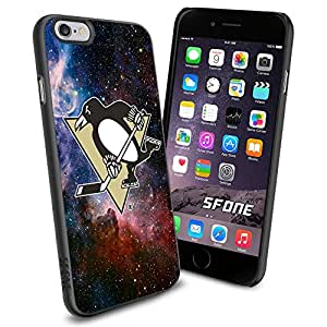 Pittsburgh Penguins Nebula WADE1816 Hockey iPhone 6 4.7 inch Case Protection Black Rubber Cover Protector