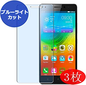 ?3 Pack? Synvy Anti Blue Light Screen Protector for Lenovo A7000 Plus Screen Film Protective Protectors [Not Tempered Glass]