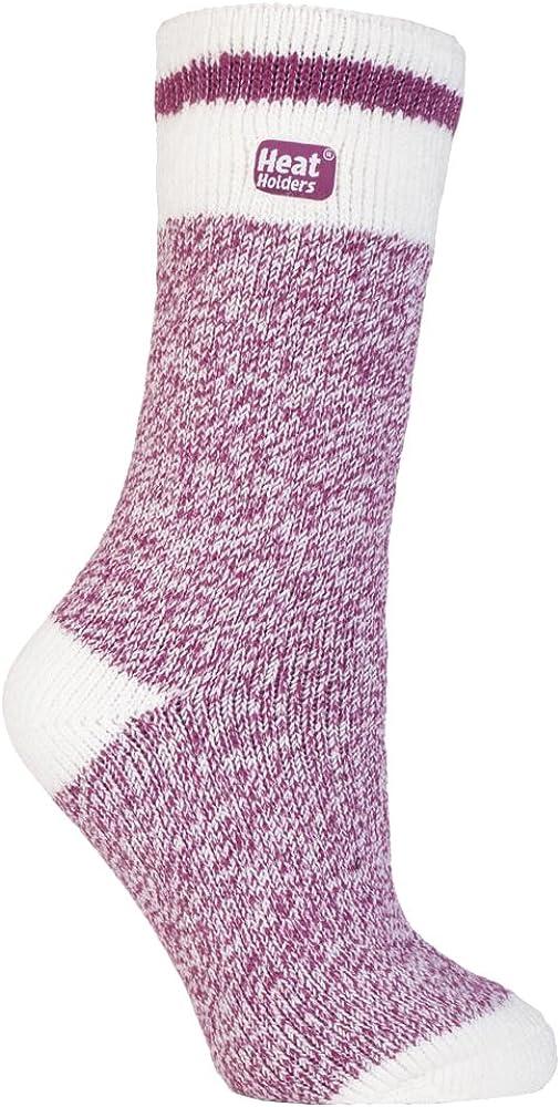 B01N3PDO79 Heat Holders - Womens 2.3 TOG Twist Marl Fleck Pattern Thermal Crew Socks 5-9 US (Berry Block Twist) 61VL2ZiEAvL