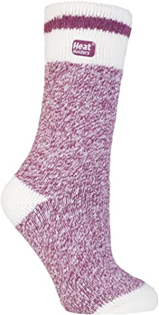 37-42 eur 5-9us Purple Ladies Long Knee High Thermal Heat Holders Socks 4-8 uk