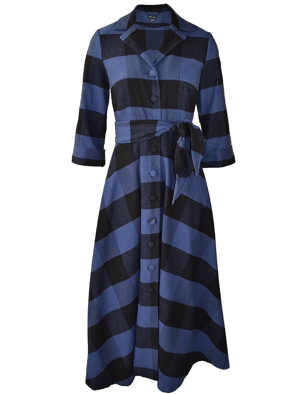 1940s Plus Size Dresses Long-Sleeve 1947 Dress  AT vintagedancer.com