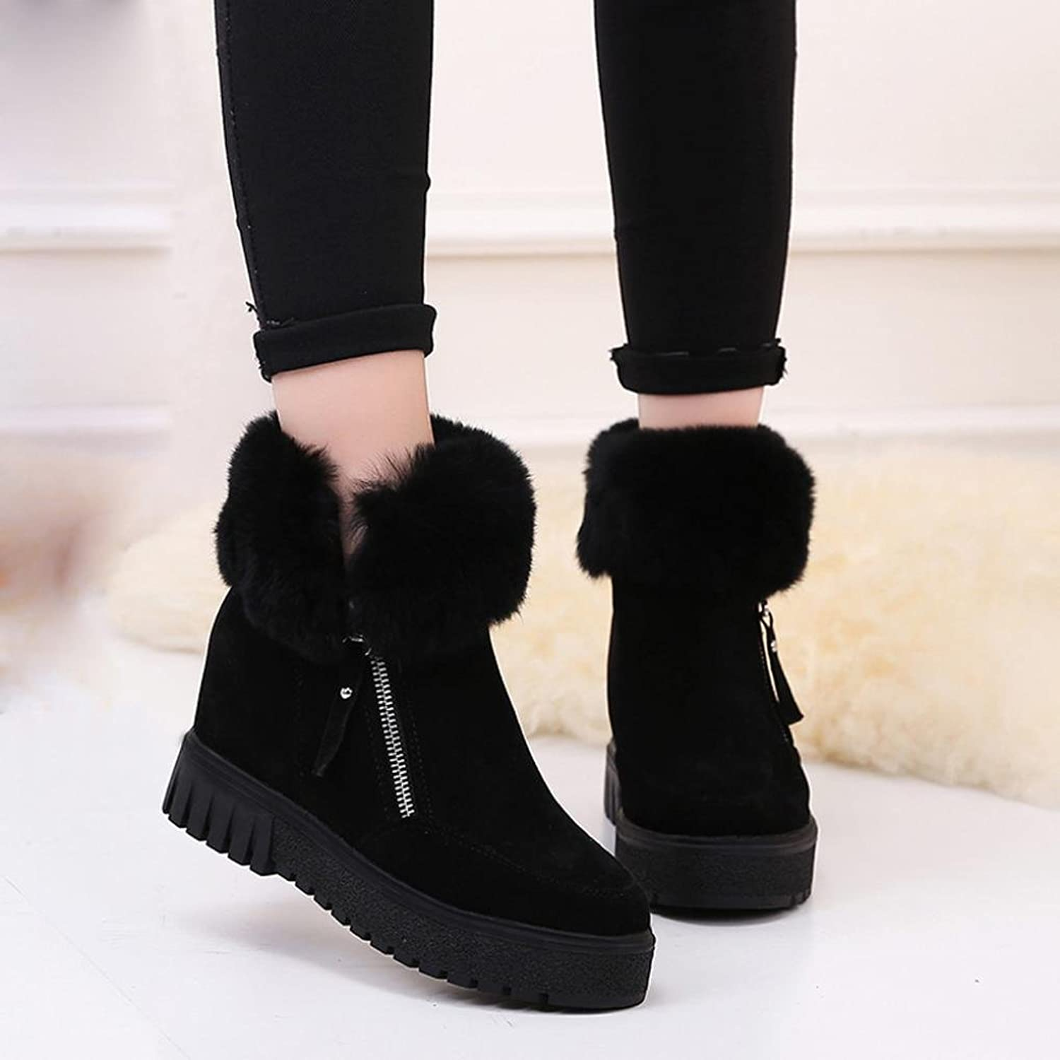 Women Boots Within Bottom Heighten Soft Side Short Tube Boots Women Boots Warm Shoes