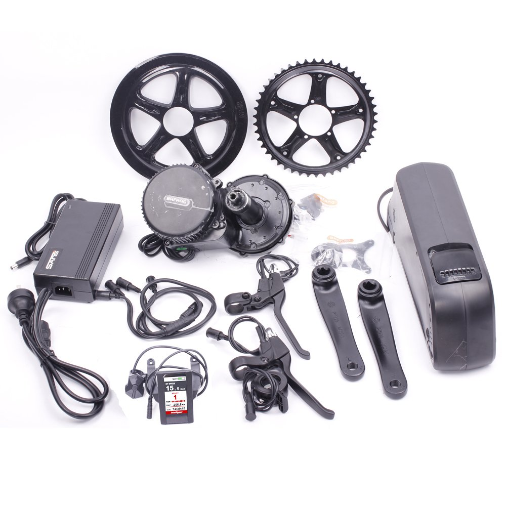 Bafang Mid Motor Kit Mid Motor Kit with Color Display with 17.5AH Samsung Cells Battery 48V 750W
