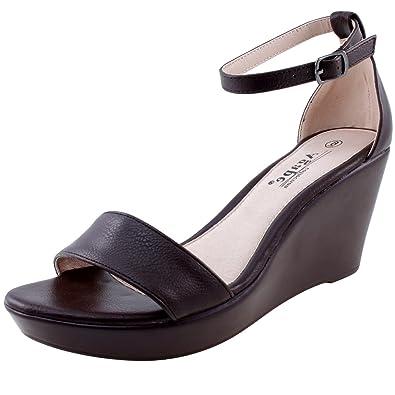 37b79c225 Agape Pamela-22 Ankle Strap Wedge Sandal