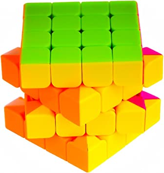 D Eternal 4x4x4 Stickerless Magic Rubick Cube with Adjustable Tightness (Multicolour)