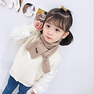 LMSHM Foulard pour Enfants Children's Scarves, Autumn Winter, Pure Colored Children Scarves and Warmth, Tong Baobao and 125 * 15